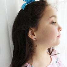 turquoise and rose gold kids earrings
