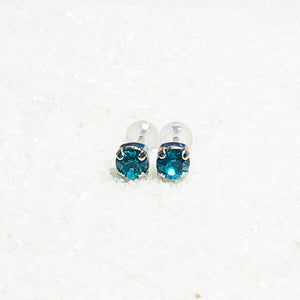 fun blue stud earrings for kids online