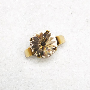 elegant gold swarovski crystal ethical rings
