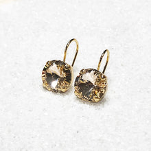 unique gold swarovski crystal drop earrings