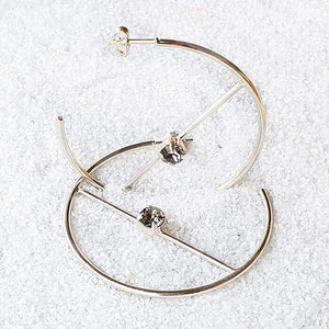 Fede Swarovski Hoop Earrings