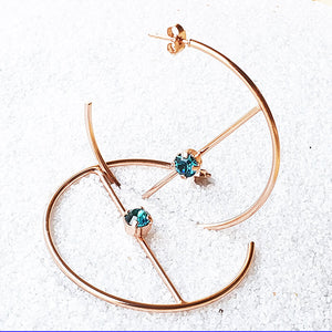 Ziggy Swarovski Hoop Earrings