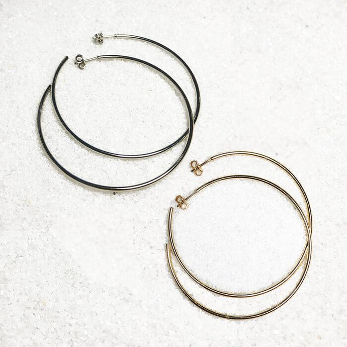 thin 50mm hoop earrings australia