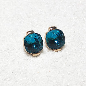 elegant turquoise swarovski and rose gold stud earrings online