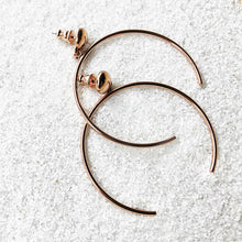 buy elegant hoop earrings rose gold ethical jewellery