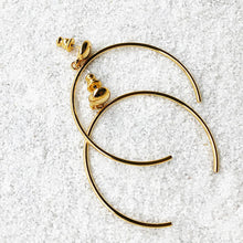 elegant hoop earrings gold