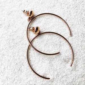 buy rose gold hoop earrings australia