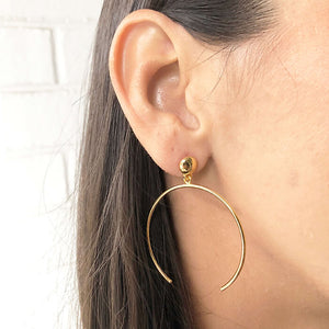 gold drop hoop elegant earrings australia