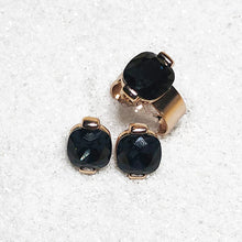 ethical jewellery australia rose gold and black swarovski