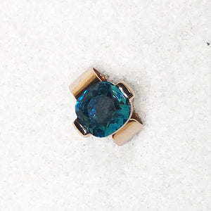 elegant turquoise and rose gold statement ring