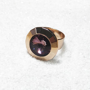 elegant statement rings rose gold and antique pink swarovski