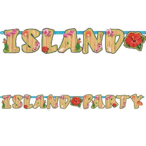 Luau Illustrated Letter Banner - Amscan