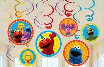 Sesame Street Swirl Decorations - Amscan