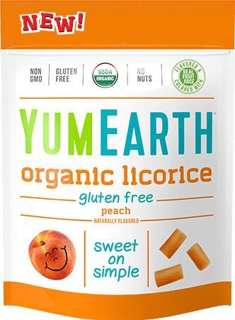 Organic Gluten Free Peach Licorice 12/5 oz bags - YumEarth