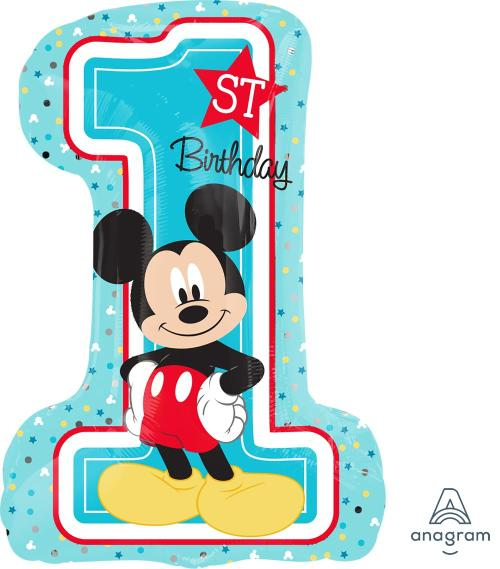 "Supershape  Fun2B1 Mickey 28"" Balloon - Anagram"