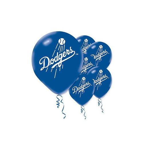Dodgers Latex Balloons 12""