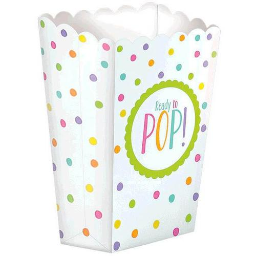 Baby Shower Popcorn Boxes Neutral