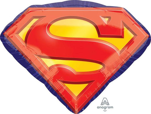 "Supershape Superman Emblem 26"" Balloon - Anagram"
