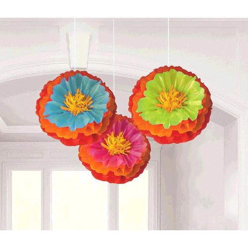 Fiesta Fluffy Flower Decoration - Amscan