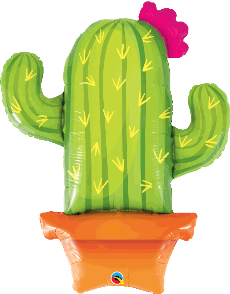 "Supershape Potted Cactus 39"" Balloon - Qualatex"