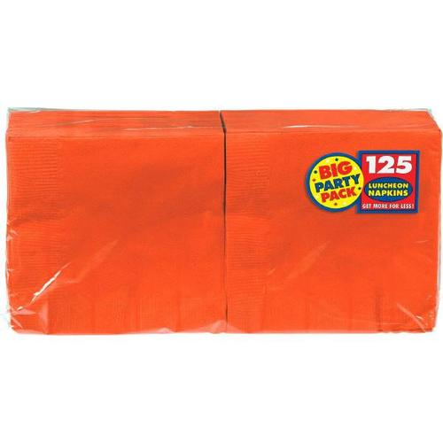 Orange Peel Lunch Napkin 125ct - Amscan