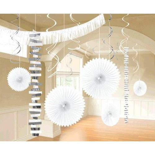Frosty White Paper & Foil Decorating Kits 18ct - Amscan