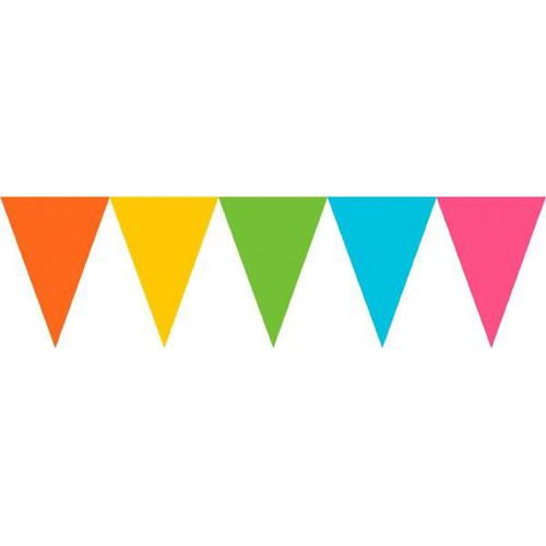 Multi Paper Pennant Banner - Amscan