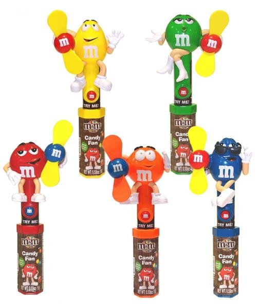 M&M Fan 12/.46oz - Candy Rific