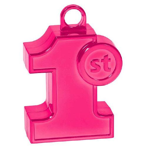 1St Bd Balloon Weight Pink - Amscan
