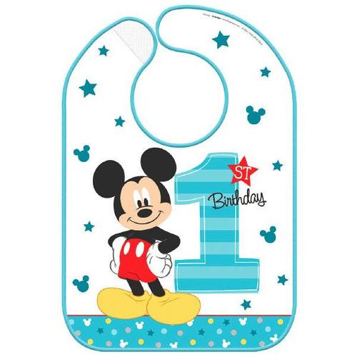 Mickey Fun to Be One Baby Bib - Amscan