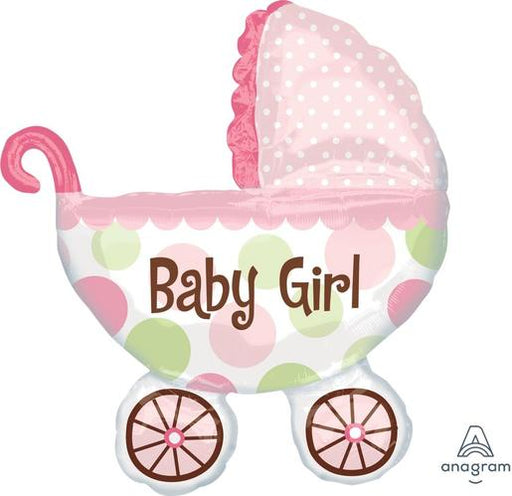 "Supershape Baby Buggy Girl 31"" Balloon - Anagram"
