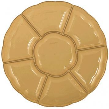 "16"" Plastic Compartment Tray Gold - Amscan"