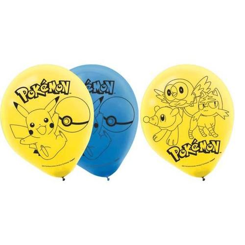 "Pokemon Core Latex Balloons 12"" - Amscan"