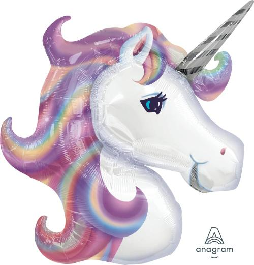 "Supershape Pastel Unicorn 33"" Balloon - Anagram"