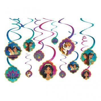 Aladdin Swirl Decorations - Amscan