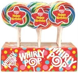 Whirly Pop Happy Birthday 24/1.5oz
