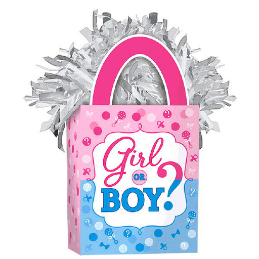 Girl or Boy? Mini Tote Balloon Weight - Amscan