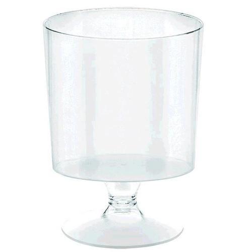 Mini Plastic Clear Pedestal Cup 40ct