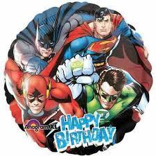 "18"" Happy Birthday Justice League Foil Balloon - Flat - Anagram"