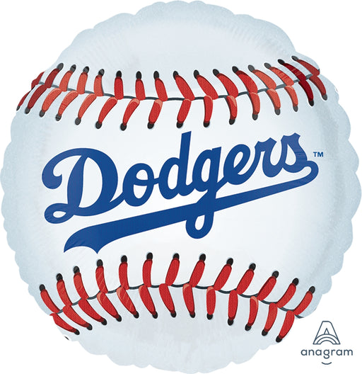 "17"" Dodgers Foil Balloon - Flat"