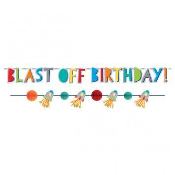 Blast Off Birthday Banner Kit - Amscan
