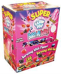 Blow Pop Super Bursting Berry 100/1.35oz - Charms Company