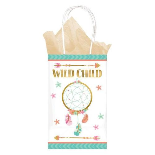 Boho Birthday Girl Paper Bags 8ct - Amscan