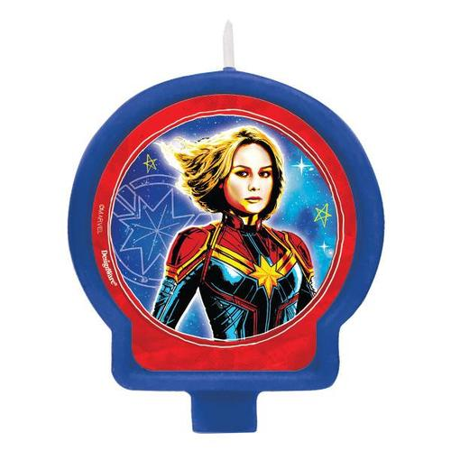 Captain Marvel Birthday Candle