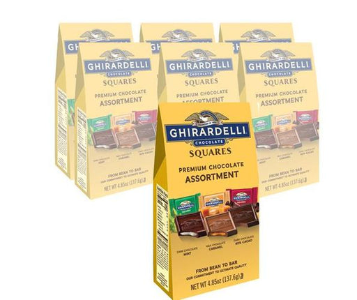 Ghirardelli Squares Assortment 6/4.85oz - Case - GHIRARDELLI CHOCOLATES