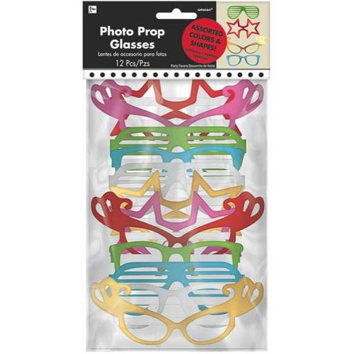 Photo Booth Glasses Foil 12ct* - Amscan