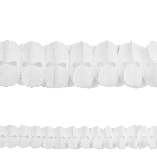 Frosty White Paper Garland