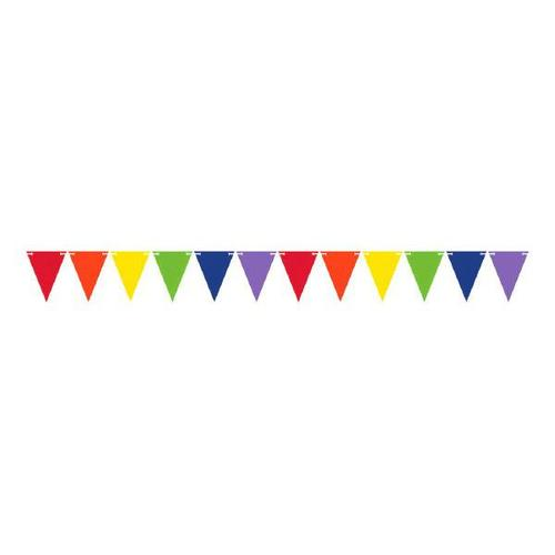 Mini Paper Pennant Banner Primary Assorted - Amscan