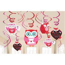 Woodland Friends Valentine's Swirl Decorations 12ct
