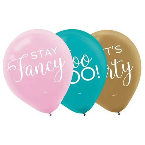 Confetti Fun Latex Balloons 15ct - Amscan
